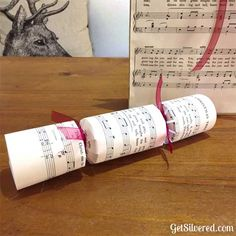 Custom Christmas Crackers with Free Silhouette Cutting File.