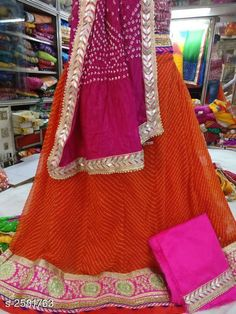 Lehengas Voguish Elegant Georegette Embroidered Lehengas Fabric: Lehenga -  Georegette   Choli - Georegette Dupatta -  Art Silk Size: Lehenga ( Waist Size ) - Up To 40 in Choli - 1 Mtr Dupatta - 2.3 Mtr  Flair - 3.5 Mtr Length: Lehenga - Up To 40 in Type: Lehenga - Semi - Stitched Choli - Un - Sttiched Description: It Has 1 Piece Of Lehanga 1 Piece Of Choli And 1 Piece Of Dupatta   Work : Lehenga - Embroidery Choli - Embroidery Dupatta - Lace Work Country of Origin: India Sizes Available: Un Stitched, Free Size, Semi Stitched *Proof of Safe Delivery! Click to know on Safety Standards of Delivery Partners- https://ltl.sh/y_nZrAV3  Catalog Rating: ★4 (4714)  Catalog Name: Tina Voguish Elegant Georegette Embroidered Lehengas Vol 1 CatalogID_348397 C74-SC1005 Code: 109-2581763-