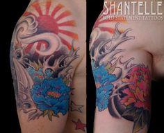 japanese rising sun tattoo | Tattoo Japan Rising Sun And Japanese Characters