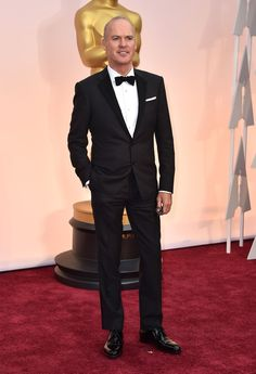 Michael Keaton attends the Academy Awards at the Dolby Theatre in Los Angeles on Feb. 22, 2015.