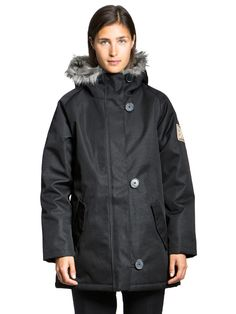 The Original Makia Winter Jacket that represents timeless usabiility, with a touch of Nordic contemporary heritage Parka, Rain Jacket, Windbreaker, Raincoat, Fall Winter, Winter Jackets, The Originals, Women, Style