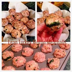 A quick and healthy recipe to make high protein meatballs with turkey, spinach and other healthy ingredients. Great for those on high protein, low carb, low fat diets who need some new recipes for meal prep.