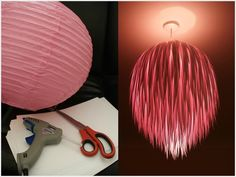 Paper lanterns are in demand in Diwali and Christmas. DIY Paper Lanterns not only save your money but its a fun and creative craft activity. Lantern making Make A Lamp, How To Make Lanterns, Diy Luz, Home Crafts, Diy Crafts, Diy Light Fixtures, Creation Deco, Diy Chandelier, Paper Lanterns