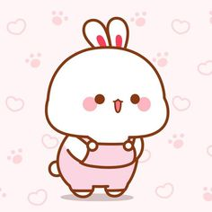Cute Bunny Cartoon, Cute Cartoon Drawings, Cute Cartoon Pictures, Cute Love Cartoons, Cute Kawaii Drawings, Funny Bunnies, Cartoon Pics, Kawaii Cute, Cute Pictures