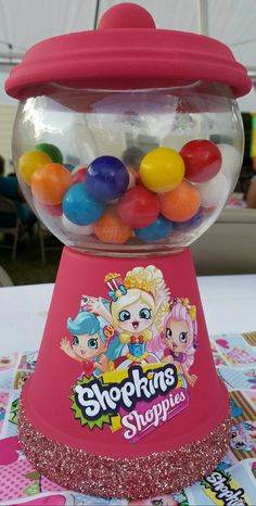 Shopkins centerpieces by Ruby Z.