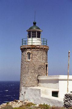 Achla Lighthouse, Andros Island, Greece- by Miltos A