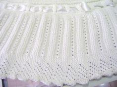 toquilla para bebé manta lana de bebé  raso tricot