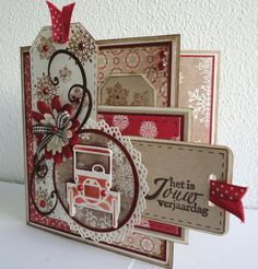 Image result for images brown and red christmas cards