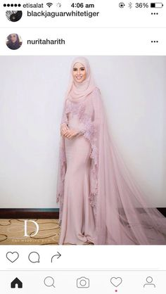 dressvip Round Neck Mother of Bride Dress with Ivory Long Sleeves Jacket Muslimah Wedding Dress, Muslim Wedding Dresses, Wedding Hijab, Muslim Dress, Bridal Hijab, Bridal Dresses, Wedding Gowns, Muslim Brides, Muslim Couples