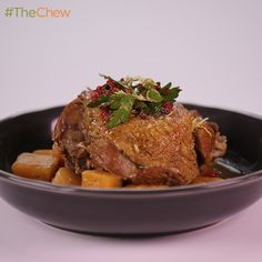 Braised Cranberry Turkey Thighs by Mario Batali! #TheChew