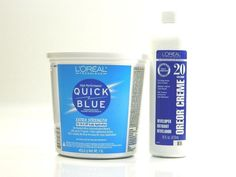 L'OREAL QUICK BLUE EXTRA STRENGTH POWDER BLEACH & OREOR CREME 20 VOLUME 16 oz.