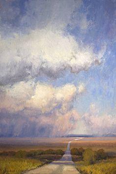 Prairie Tower by Kim Casebeer. Oil ~ 30 x 20