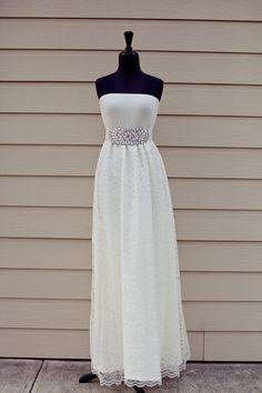 Custom Casual Wedding Dress Casual Wedding Belt by thearmorofGod, $75.00