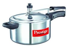 Best price Prestige Nakshatra Aluminum Pressure Cooker Feature: Made from fantastic virgin aluminum Faster and more beneficial cooking Suitable for Induction and Gas
