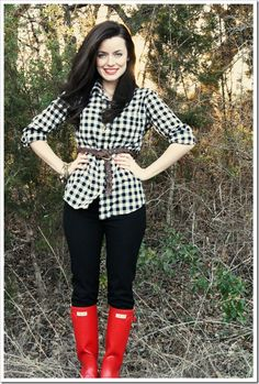 gingham and hunters. perfect.