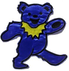 Official Grateful Dead Iron-on Back Patch measuring approx 22cm x 21cm featuring the Dancing Bear cut out design Officially Licensed Merchandise See