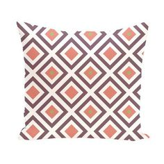 """e by design Subline Geometric Throw Pillow Color: Navy Blue / Brown, Size: 20"""" H x 20"""" W"""