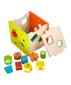 Take a look at this Number  Shape Sorting Cube by DIY KIDS on #zulily today!