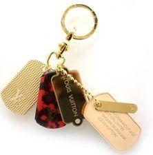Louis Vuitton LV Authentic Bag Charm Monogramouflage Keychain Takashi Murakami