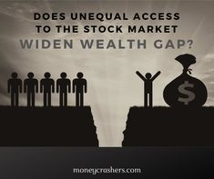 Survey: Unequal Access to the Stock Market Widens Wealth Gap - Finance tips, saving money, budgeting planner Preparing For Retirement, Retirement Planning, Financial Planning, Savings Planner, Budget Planner, Ways To Save Money, Money Tips, Extra Money, Quick Money