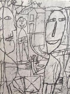 Drawings of Jean Dubuffet Edition, 1960 Modern Art, Contemporary Art, Graffiti, Jean Dubuffet, Art Brut, Outsider Art, Illustration Art, Illustrations, Figurative Art