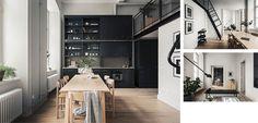 Un loft elegante con amplios ventanales - http://www.decoora.com/un-loft-elegante-con-amplios-ventanales/