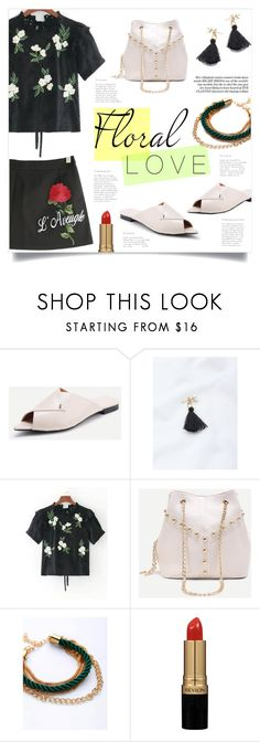 """""""Floral Love"""" by mahafromkailash ❤ liked on Polyvore featuring Revlon"""