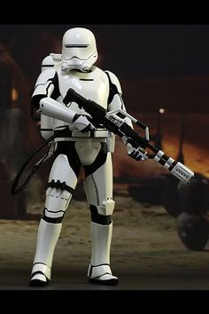 "Hot Toys MMS326 Star Wars: The Force Awakens 1:6 First Order Flametrooper 12"" figure"
