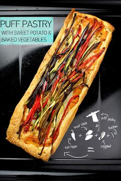 Donkey and the Carrot: PUFF PASTRY WITH SWEET POTATO & BAKED VEGETABLES! ΣΦΟΛΙΑΤΑ ΜΕ ΓΛΥΚΟΠΑΤΑΤΑ ΚΑΙ ΨΗΤΑ ΛΑΧΑΝΙΚΑ
