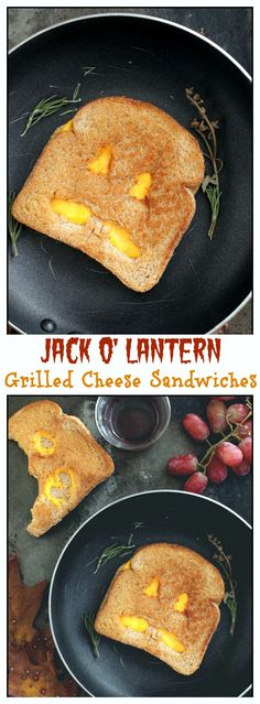 {USA} Jack O' Lantern Grilled Cheese Sandwiches - SUPER FUN idea to make for your kids!