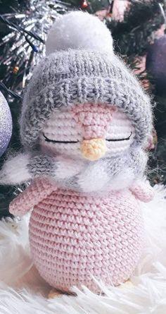 Pingüinos para abrazarlos mucho mucho | Mundoamigurumi.com Easy Knitting Projects, Easy Knitting Patterns, Hand Knitting, Knitting Ideas, Doll Patterns, Crochet Projects, Crochet Patterns Amigurumi, Amigurumi Doll, Crochet Toys