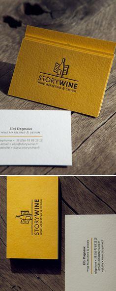 Cartes de visite StoryWine / Impression recto verso 2 couleurs / Duplex 2 x 300g
