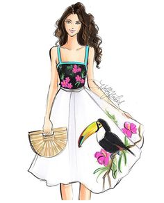 Birds of a Feather... #FashionIllustrations @hnicholsillustration/ hnillustration.etsy.com| Be Inspirational ❥|Mz. Manerz: Being well dressed is a beautiful form of confidence, happiness & politeness