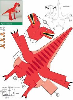 Dinosaurs Kiragami Dover Publications weekly sample Plus
