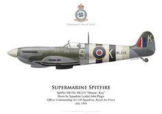 Spitfire Mk IX, S/L John Plagis, No 126 Squadron, Royal Air Force, 1944