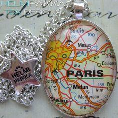 Tilaustyönä #karttakoru #Paris <3