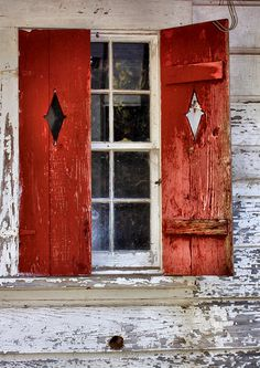 Red Shutters by Kenny Shackleford