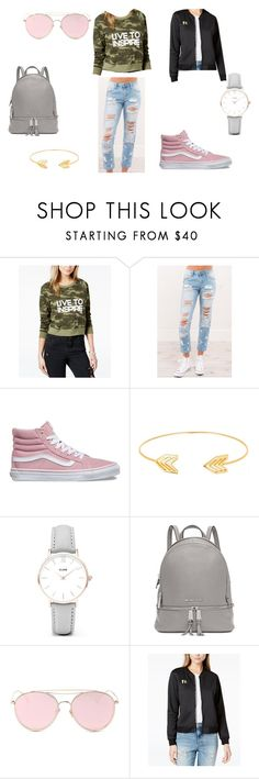 """""""Cute Casual Outfit"""" by ceg6 ❤ liked on Polyvore featuring Boy Meets Girl, Vans, Lord & Taylor, CLUSE, Michael Kors, LMNT and boymeetsgirlxmacy"""