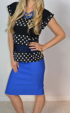 Fancy Polka Dots and Lace Top
