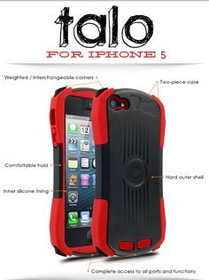 Take a load off with the Cellairis Talo. This protective iPhone 5 case does all the work for you, so you don't have yet another thing to worry about. Plus awesome colors to choose from.