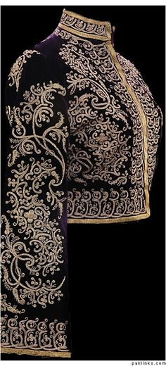 Mughal Empire Fashion | Mughal Jacket. Daaaaang, this is lovely, and very formally elegant.