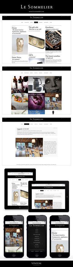 Gastronomie & vins, art & culture, voyage… Autant de thèmes que vous retrouverez sur le blog Le Sommelier et dans sa newsletter mensuelle dédiée au luxe et à l'art de vivre. Un design sobre et élégant signé Vinium Luxury Web Design : www.le-sommelier.com #blog #webdesign #wine #travel #luxury #lifestyle #responsivedesign #web