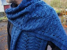 Ceffyl Dwr Wrap By Caerthan Wrack - Purchased Knitted Pattern - (ravelry)