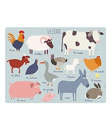 Shop by Brand Other brands Petit Jour A Farm on the Table Your Child, Kids Rugs, Placemat, Children, Table, Animals, Shopping, Cooking, Home Decor