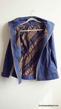 Minoru jacket (Sewaholic) by verypurpleperson, via Flickr