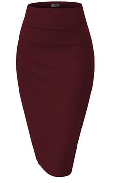 Stretchy Pencil Skirt with Elastic waist Various Sizes & Colors Fits According to Size Sm 4-6 Med 8-10 Lg 12-14 XL 16-18