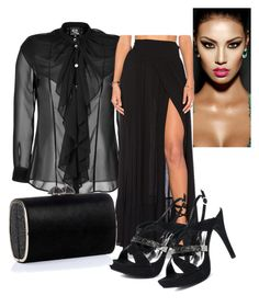 """""""Black Jealyn"""" by puddycatshoes ❤ liked on Polyvore featuring McQ by Alexander McQueen, Wildfox and Jimmy Choo"""