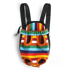 Mallofusa XL Extra Large Size Colorful Stripe Pattern Dog Pet Carrier Legs Out Front Bag Dog Backpack >>> Want to know more, click on the image.(This is an Amazon affiliate link and I receive a commission for the sales)