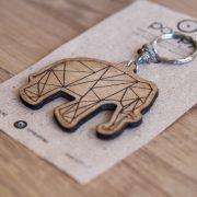 Wooden keychain - elephant, lucky charm
