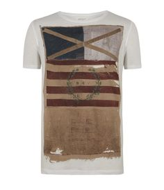 Mast Cut Collar T-shirt, Men, T-shirts, AllSaints Spitalfields